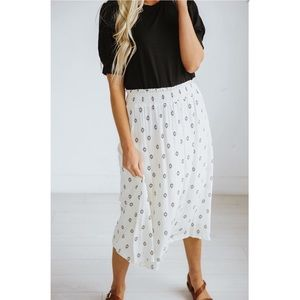 ROOLEE Diamond Print Skirt